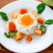 Stock Photo: fruit panna cotta