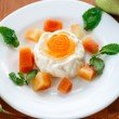 fruit panna cotta — Stock Photo