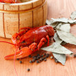 Close up of boiled crawfish — Stock Photo