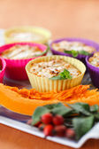 Cheese muffins with pumpkin — Stock Photo