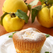 Cake with quince — Stock Photo
