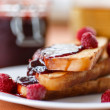 Toast with raspberry jam — Foto de Stock   #32952577