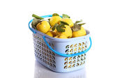 Quince in a basket — Stock Photo