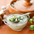 Mushroom cream soup with brussels sprouts — Stock Photo #33111137