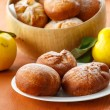 Donuts with quince — Stock Photo