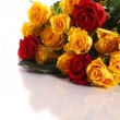 Yellow and red roses — Stock Photo #33220275