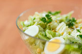 Fresh salad with eggs — Stock Photo