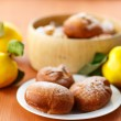 Stock Photo: Donuts with quince
