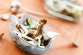Mushroom salad with onions — Stock Photo