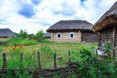 Пирогово, Украина, Киев, музей, на открытом воздухе, село, деревня, старинный, старое, реликвии, экскурсия, путешествие, ульи, пчелы — Stock Photo