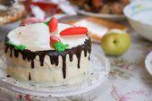Торт, сладкий, шоколадный, морковка, десерт, еда, питание, завтрак, сладости, детский — Stock Photo