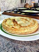 Завтрак, еда, блины, приготовленные, — Stock Photo