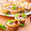 Cheese Muffins with berries — Stock Photo #34477365