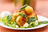 Baked potatoes with garlic — Stock Photo