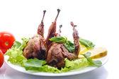 Roasted quail — Stock Photo