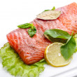 Salted salmon fillets — Stock Photo