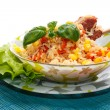 Stock Photo: Rice with meat