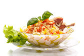 Rice with meat — Stock Photo