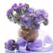 Bouquet of flowers with blue phacelia — Stock Photo