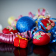 Stock Photo: Christmas decorations colored