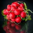 Bundle of red radish  — Stock Photo