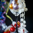Christmas decorations colored — Stock Photo