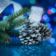 Stock Photo: Christmas fir cones