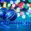 Blue Christmas ball — Stock Photo #36707715