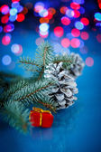 Christmas fir cones — Stock Photo