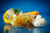 Vegetable soup with cauliflower — Stock Photo