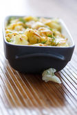 Cauliflower baked with egg and cheese — Stock Photo