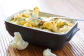 Cauliflower baked with egg and cheese — Stockfoto