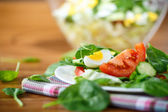 Summer salad with egg — Foto de Stock
