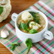 Stock Photo: Cauliflower soup