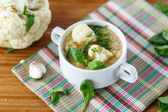 Cauliflower soup — Stockfoto