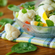 Summer diet salad with cauliflower — Stock Photo #40002831