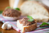 Pate with bread — Stock Photo
