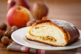 Sweet strudel with apples — Foto Stock