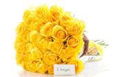 żółte róże — Zdjęcie stockowe