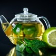 Tewith lemon and mint  — Stock Photo #41347703
