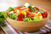Fresh salad with cabbage and red fish — Foto de Stock