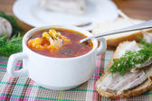 Vegetable soup with cauliflower and beets — Stock Photo