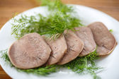 Boiled beef tongue — Stock Photo