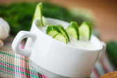 Cucumber soup — Stock Photo