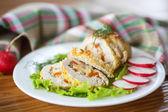 Tavuk eti rulo — Stok fotoğraf