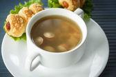 Sausage soup — Stock Photo