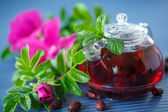Tea with rose hips — Stock Photo