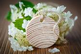 Viburnum flowers fruit — Stock Photo