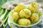 Kokt potatis — Stockfoto