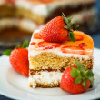 Cake with strawberries — Stock Photo #47891679